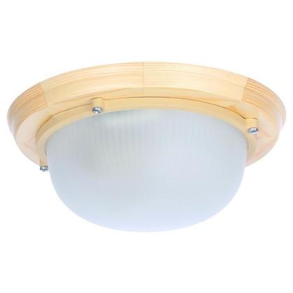 Светильник для сауны круглый 1xE27x60 Вт цвет сосна IP65 цена