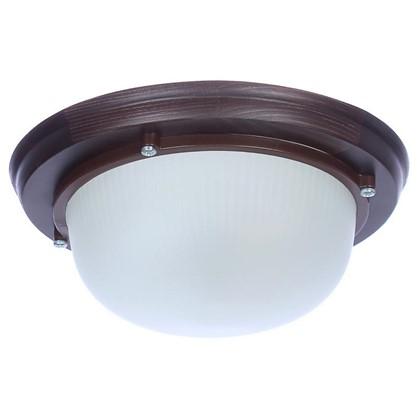 Светильник для сауны круглый 1xE27x60 Вт цвет венге IP65 цена