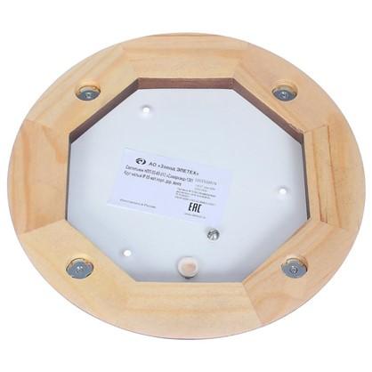 Светильник для сауны круглый 1xE27x60 Вт цвет венге IP65