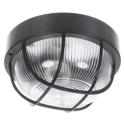 Светильник круглый 1хЕ27х60 Вт IP44 цвет черный цена