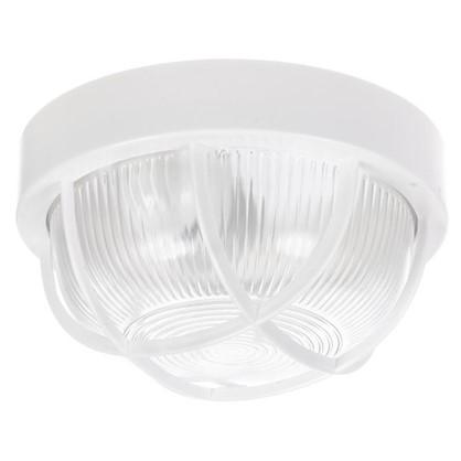 Светильник круглый 1хЕ27х60 Вт IP44 пластик цвет белый цена