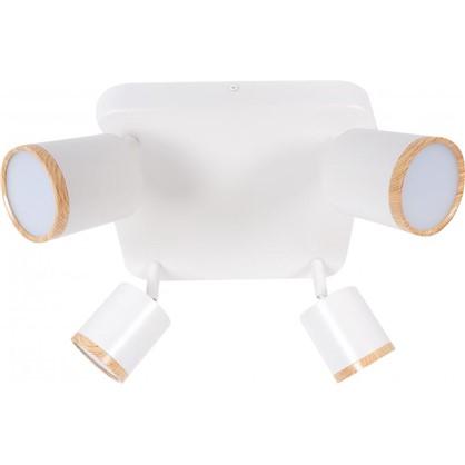 Светильник накладной поворотный Wolta SPOT06-CLL20W-4 20 Вт цвет белый/дерево цена