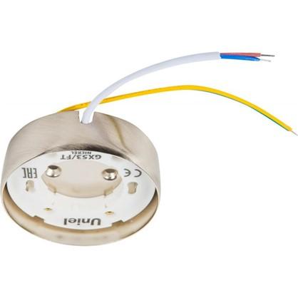 Накладной светильник Uniel GX53x16 Вт цвет никель цена