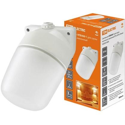 Светильник наклонный TDM Electric Сауна 1xE27x60 Вт IP54