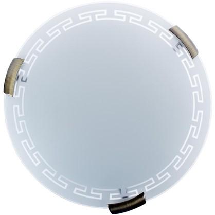 Светильник настенно-потолочный Greca 2xE27x60 Вт металл/стекло цена
