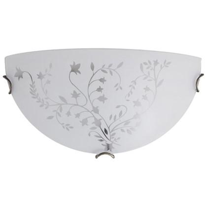 Светильник настенно-потолочный Kusta 1xE27x100 Вт цвет белый/бронза цена