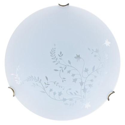 Светильник настенно-потолочный Kusta 2xE27x60 Вт цвет белый/бронза цена