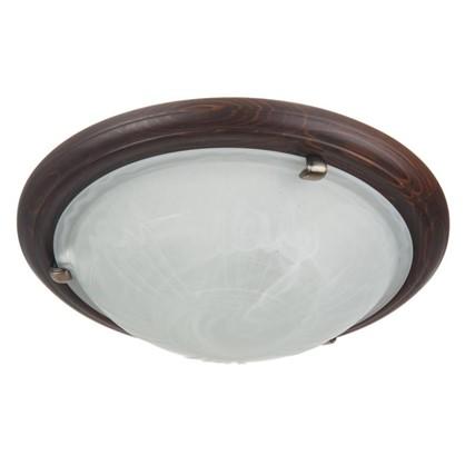 Светильник настенно-потолочный Wood 2xE27x60 Вт цвет темный орех цена