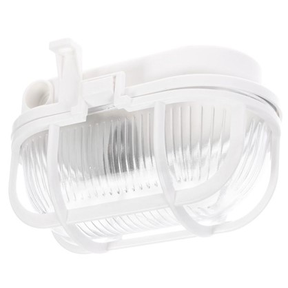 Светильник овальный 1хЕ27х60 Вт IP44 цвет белый цена