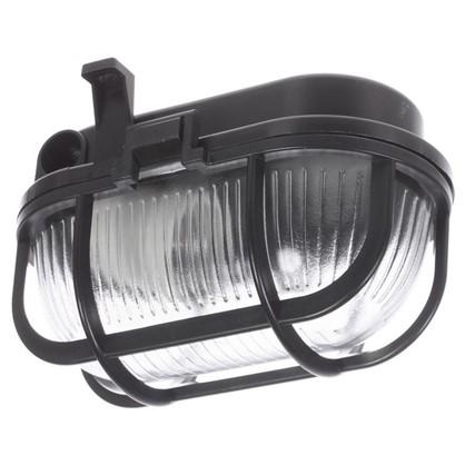 Светильник овальный 1хЕ27х60 Вт IP44 цвет черный цена