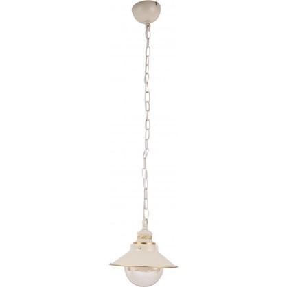 Светильник подвесной Grazioso 1xE27x60 Вт 8 м² цвет белый/золотой