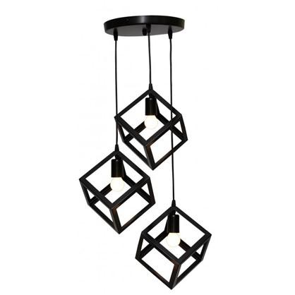Светильник подвесной Трио 3 лампы 9 м² цвет черный