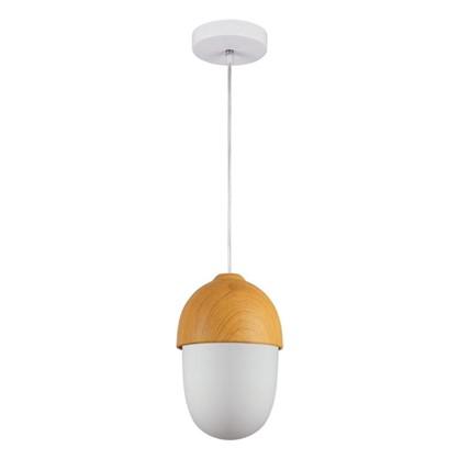 Светильник подвесной Woody 1хЕ27х40 Вт цвет белый/натуральное дерево