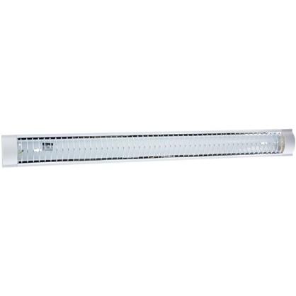 Лампа дневного света TDM Electric ЛПО3017 с решеткой 2х36 Вт металл/пластик цвет белый цена