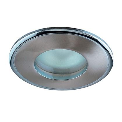 Светильник встраиваемый Aqua цоколь GU5.3 50 Вт цвет никель/хром IP65 цена