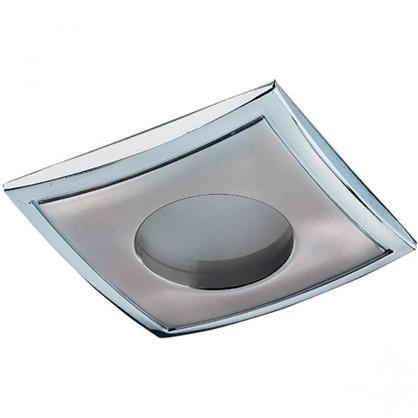 Светильник встраиваемый Aqua квадратный цоколь GU5.3 50 Вт цвет никель IP65 цена