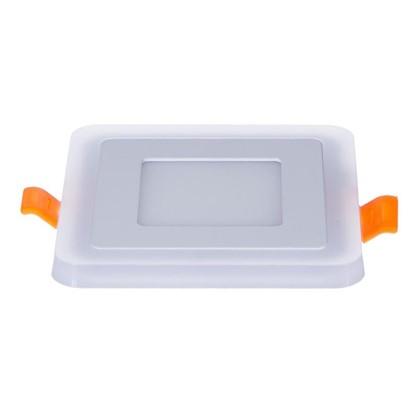 Встраиваемый светильник Gauss Backlight BL120 квадратный 3+3Вт свет теплый белый цена