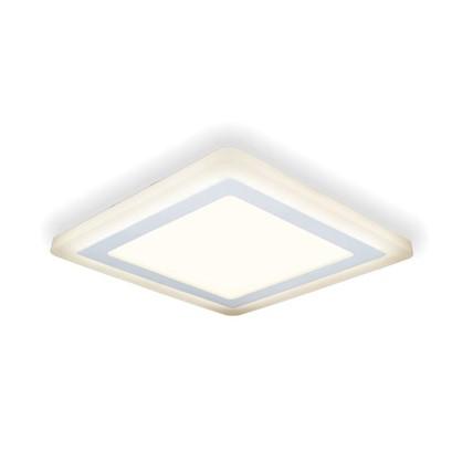 Встраиваемый светильник светодиодный Gauss Backlight BL124 квадратный 12/4 Вт 3000 K алюминий/акрил цвет белый цена