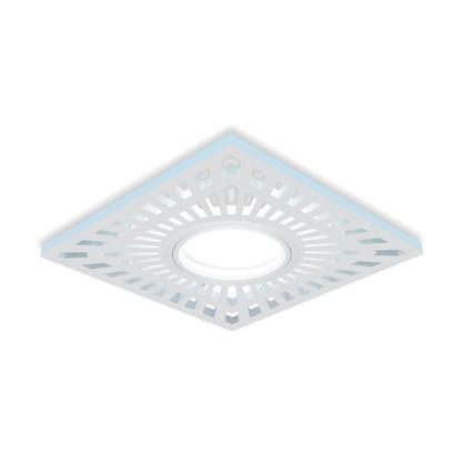 Встраиваемый светильник светодиодный Gauss Backlight BL128 квадратный GU 5.3 3 Вт 4000 K алюминий/акрил цвет белый
