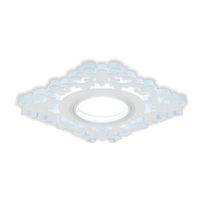 Встраиваемый светильник светодиодный Gauss Backlight BL130 квадратный GU 5.3 3 Вт 4000 K алюминий/акрил цвет белый цена