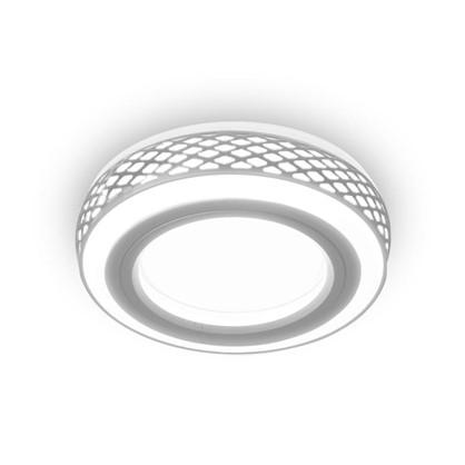 Встраиваемый светильник светодиодный Gauss Backlight BL142 круглый GU 5.3 3 Вт 3000 K алюминий/акрил цвет белый матовый