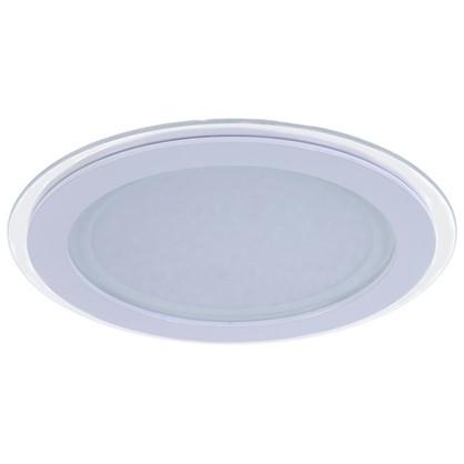 Встраиваемый светильник светодиодный круглый Gauss 18 Вт стекло свет нейтральный цена