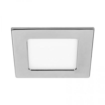 Встраиваемый светильник светодиодный квадратный DLUS LED5W 5 Вт цвет хром цена