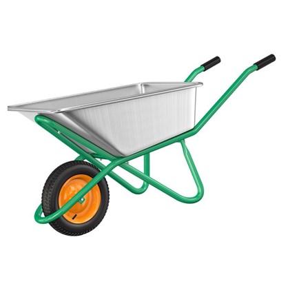 Тачка садовая усиленная 200 кг/90 л в