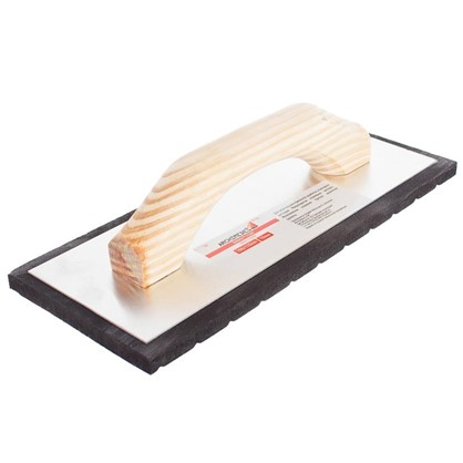Терка с деревянной ручкой 280х140 мм губка 10 мм цена