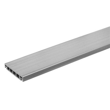 Террасная доска 3000x162х26 мм 0.486 м² цвет серый цена
