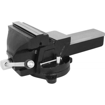 Тиски слесарные поворотные Калибр ТПСН-150 с наковальней 150 мм цена