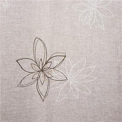 Ткань Цветы 280 см лен цвет экрю цена