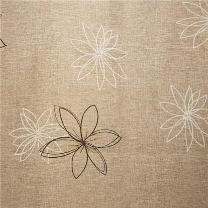 Ткань Цветы 280 см лен цвет коричневый цена