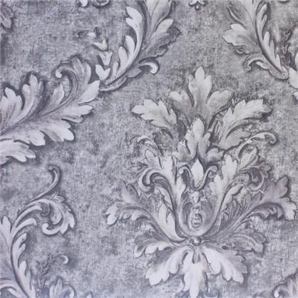 Ткань сатен Листья 280 см цвет серый цена