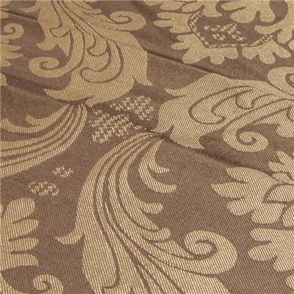 Ткань Вензель 145 см жаккард цвет коричневый цена