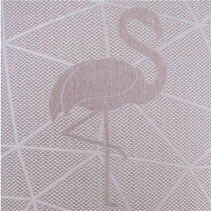 Ткань жаккард Лен фламинго 280 см цвет розовый цена
