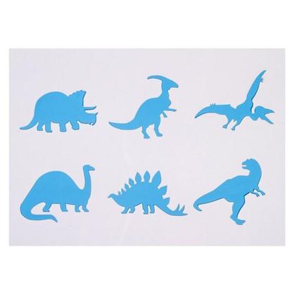 Трафарет самоклеящийся Динозавры 25х35 см цена