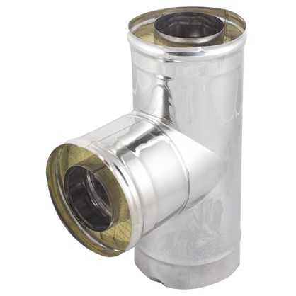 Тройник утепленный 90° 120 мм зеркальная нержавеющая сталь цена