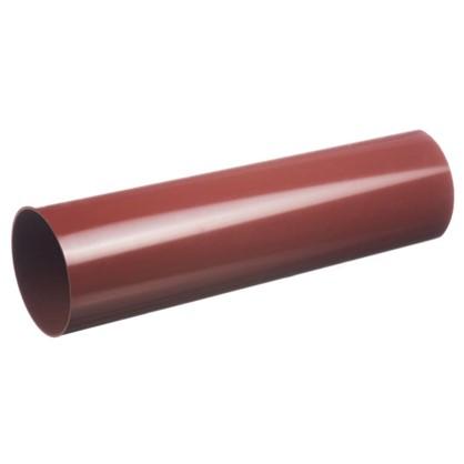 Труба водосточная Dacha 80 мм 1 м цвет красный