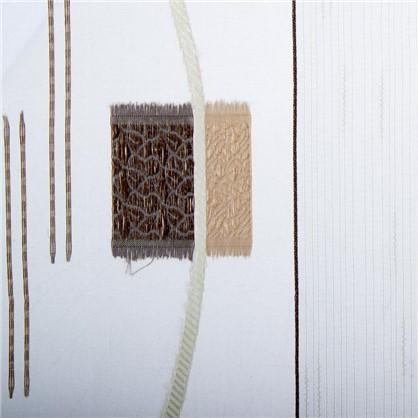 Тюль Абстракция 1 п/м 280 см квадрат цвет кофе цена