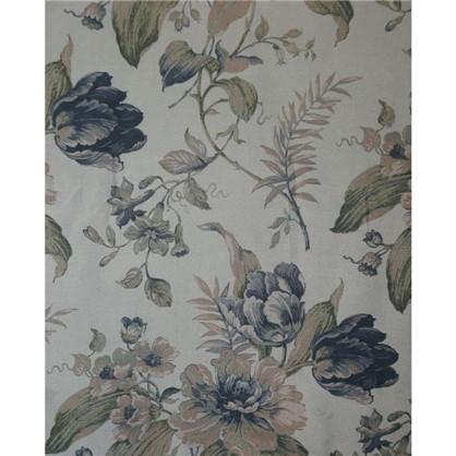 Тюль Цветы вуаль 280 см цвет синий цена
