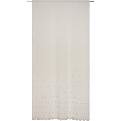 Тюль Kircicegi вуаль с вышивкой цвет пудровый цена
