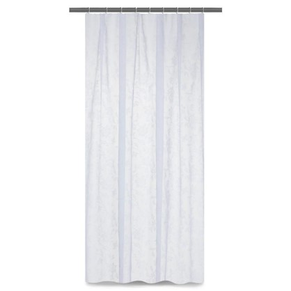 Тюль на ленте Цветы 250х260 см вуаль цвет белый