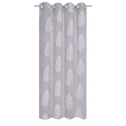 Тюль на ленте Krasnogorsk 160х260 см вуаль цвет серый цена