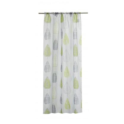 Тюль на ленте Leaves 2 160х260 см вуаль цвет зеленый цена