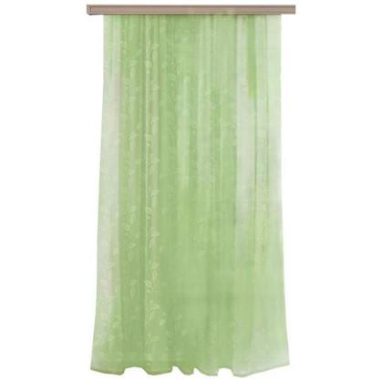 Тюль на ленте Листья тиснение 300х260 см цвет фисташковый цена