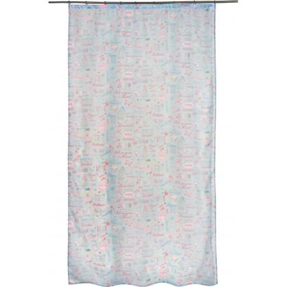 Тюль на ленте Романтика 140х260 см цвет голубой