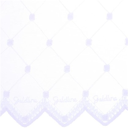 Тюль Ромб вышивка 285 см цвет белый цена