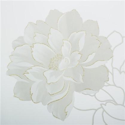 Тюль с печатью Роза 1 п/м 280 см органза цвет белый цена