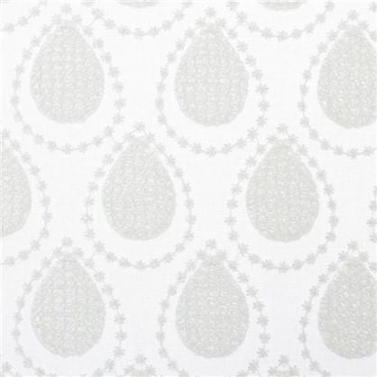 Тюль с вышивкой Капли батист 290 см цвет кремовый цена
